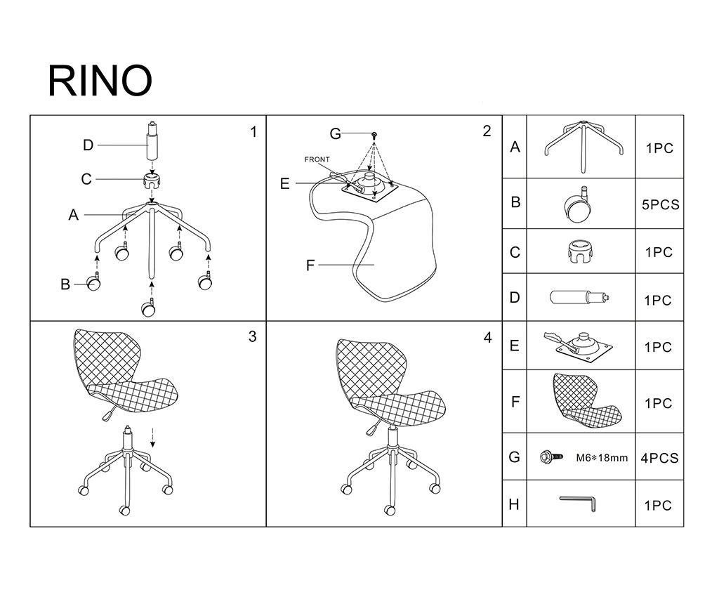 Dječja uredska stolica Ujar