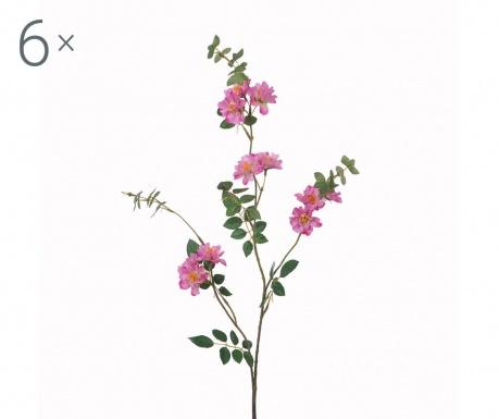 Set 6 flori artificiale Mini Rosa Pink