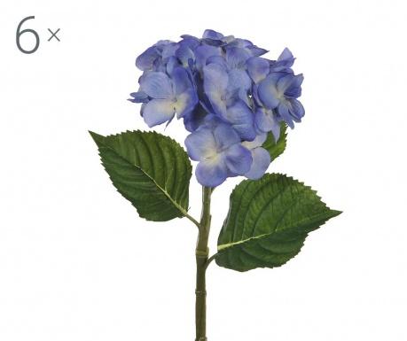 Ortensia Blue 6 db Művirág