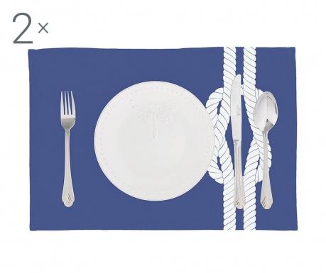 Комплект 2 подложки за хранене Knot Blue 33x45 см