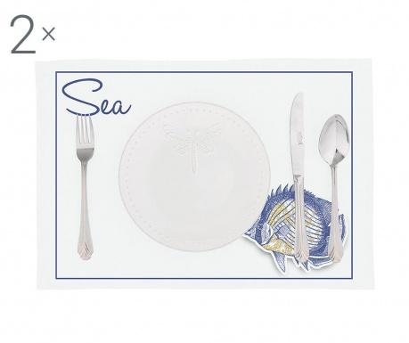 Комплект 2 подложки за хранене Sea Fish 33x45 см