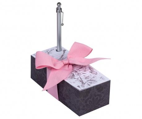 Комплект кубче с бележки и химикал Paris J'adore