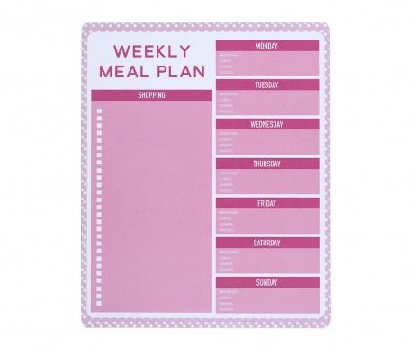 Настолен седмичен органайзер Pink