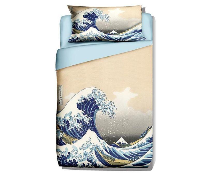 Posteljnina Single Extra Ranforce Hokusai The Great Wave