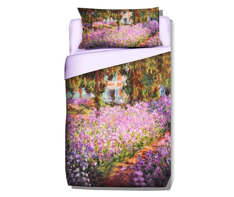 Set de pat Single Extra Ranforce Monet Artist Garden