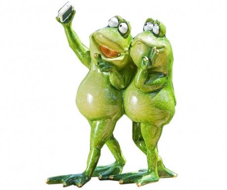 Záhradná dekorácia Two Selfie Frogs