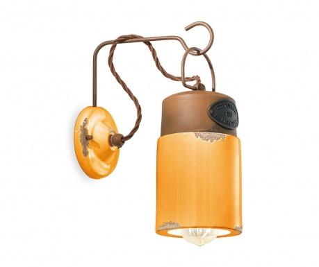 Nástenné svietidlo Industrial Lantern Yellow