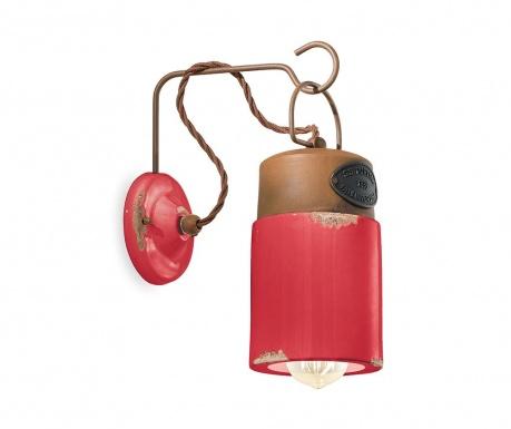 Nástenné svietidlo Industrial Lantern Red