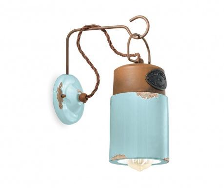 Nástenné svietidlo Industrial Lantern Blue