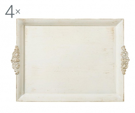 Комплект 4 подноса за сервиране Antique Detail