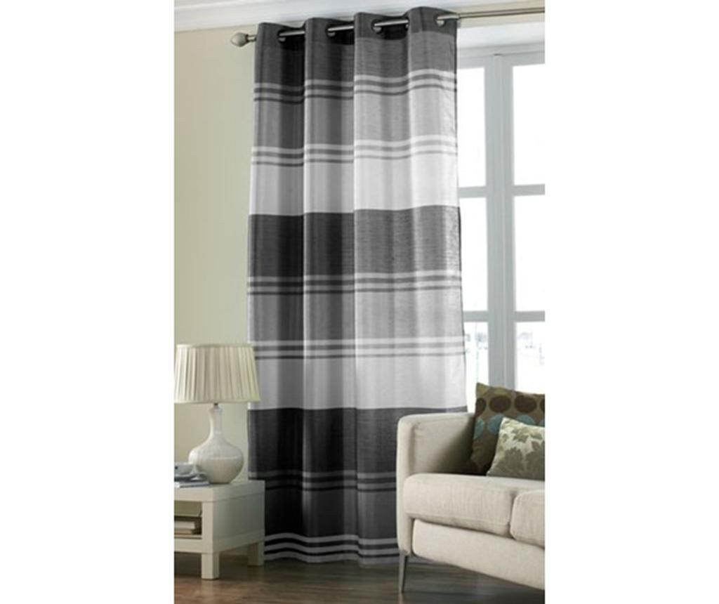 Zavesa Stripe Black 145x228 cm