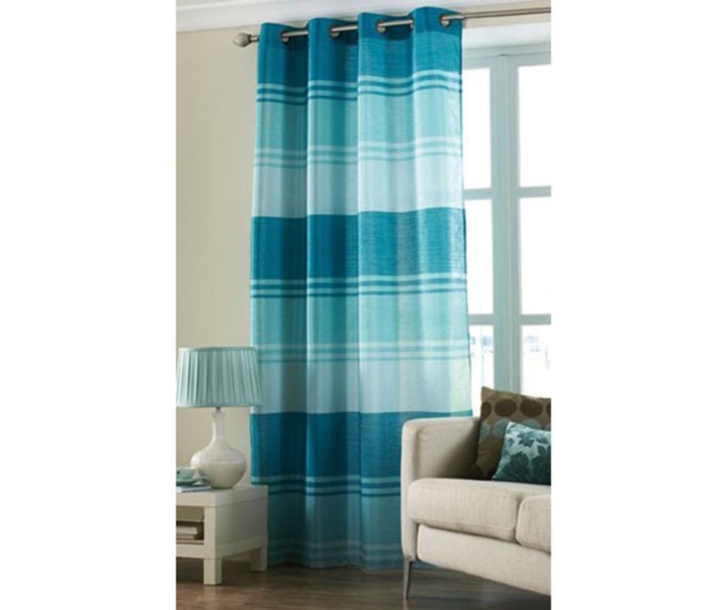 Zavesa Stripe Turquoise 145x228 cm