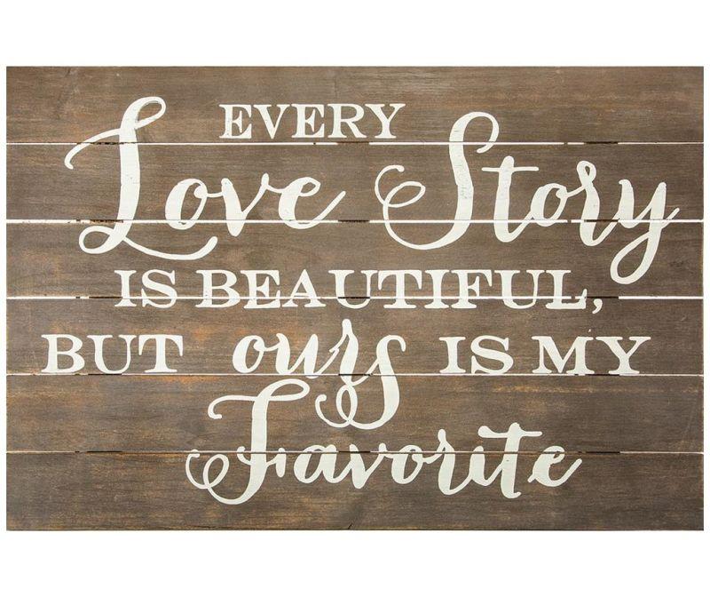 Love Story Fali dekoráció