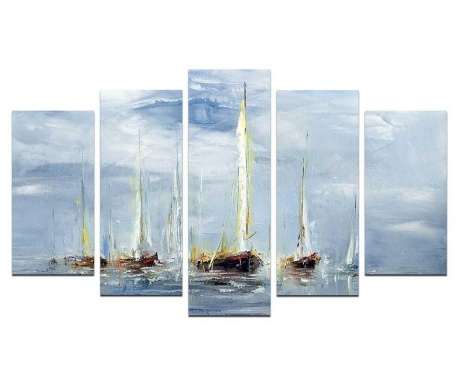 Set 5 tablouri Windy Days