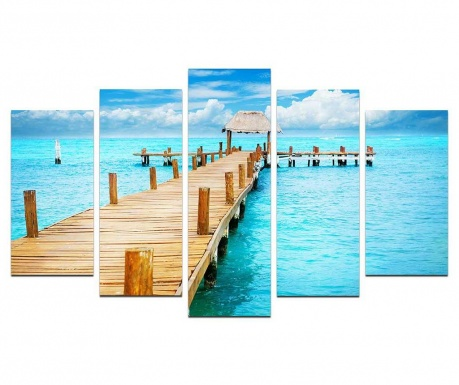 Set 5 tablouri Summer Paradise