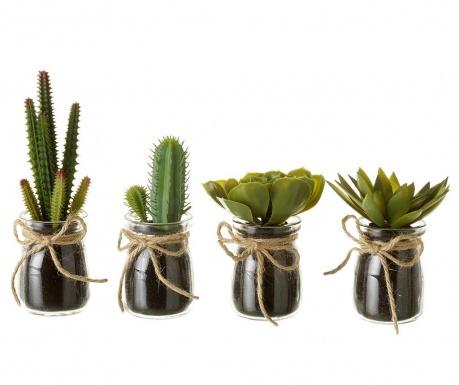 Set 4 plante artificiale in ghiveci Cactus Town