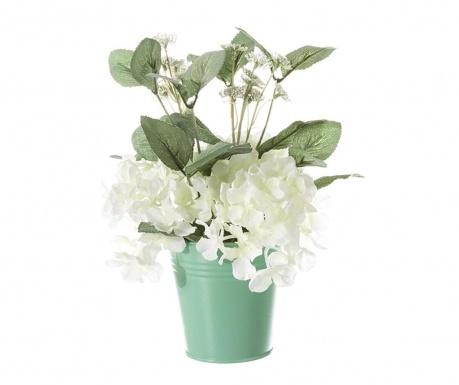 Floare artificiala in ghiveci Geranio White
