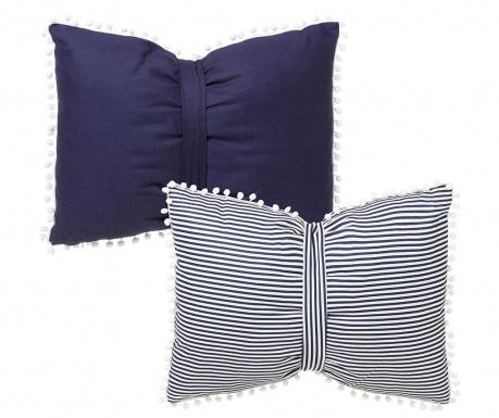 Set 2 perne decorative Marina Blue 45x60 cm