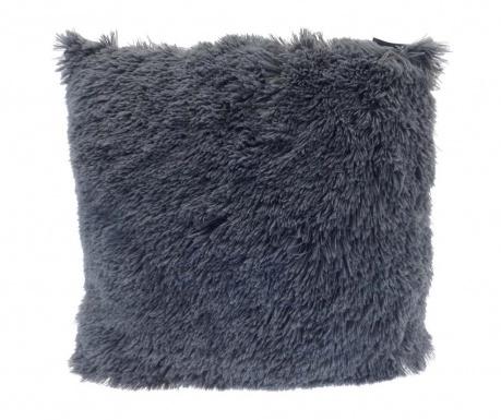 Poduszka dekoracyjna Long Fur Soft Touch Dark Grey 40x40 cm
