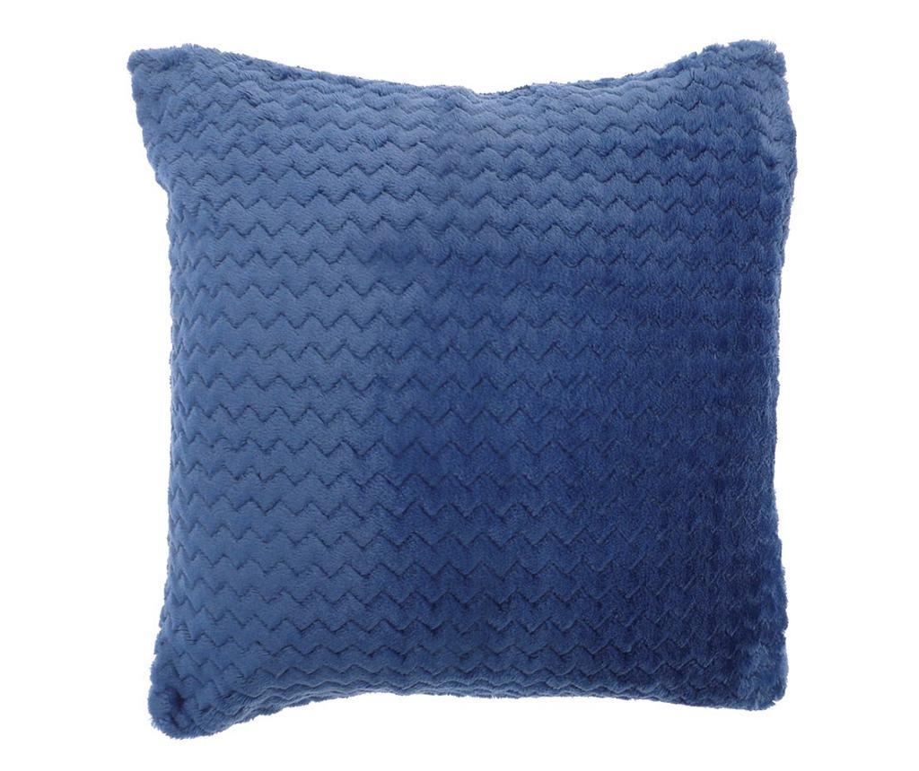 Perna decorativa Chevron Fleece Blue 43x43 cm