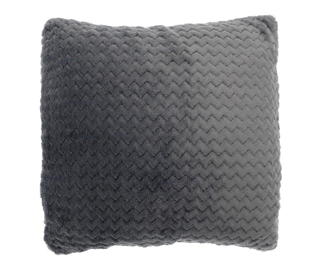 Okrasna blazina Chevron Fleece Grey 43x43 cm