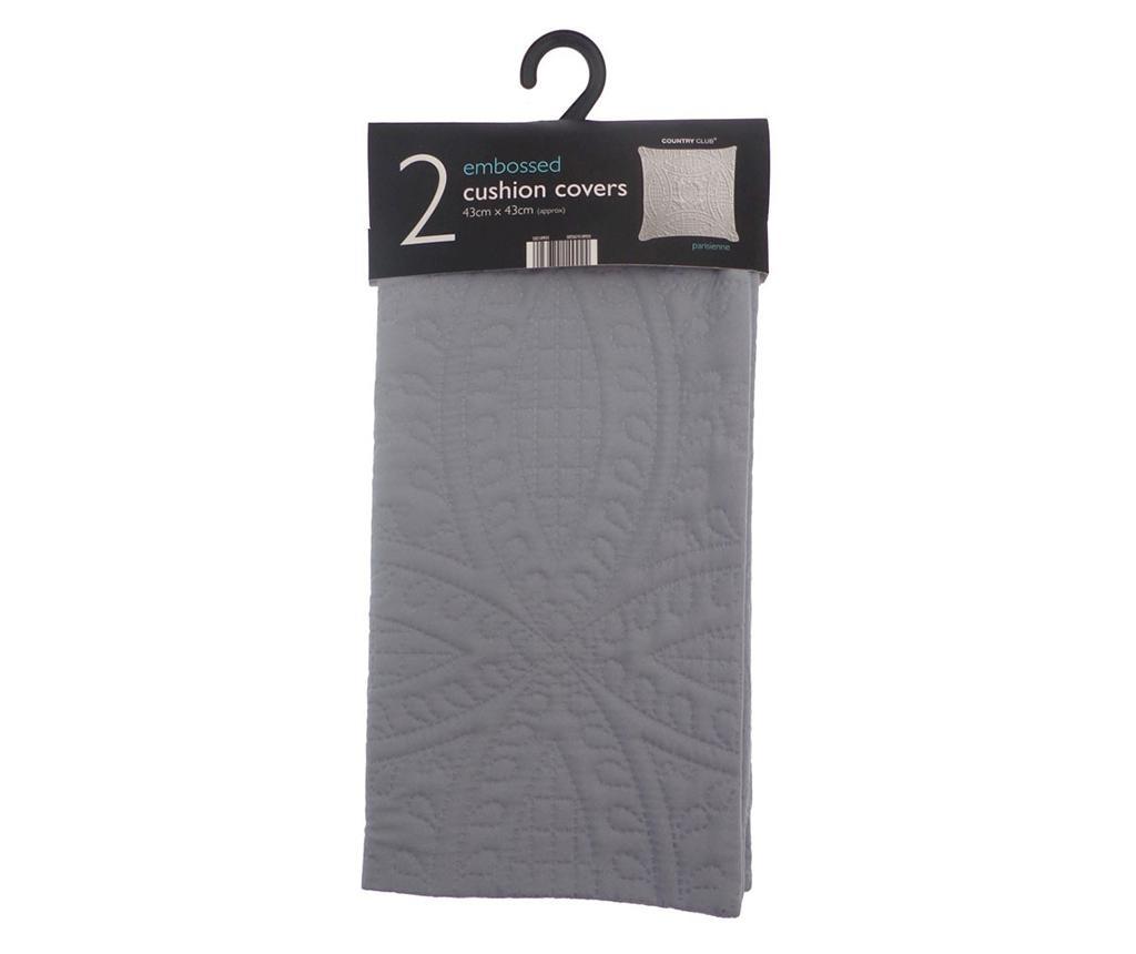 Комплект 2 калъфки за възглавница Parisienne Grey 43x43 см