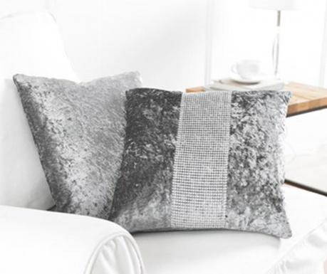 Zestaw 2 poszewek na poduszkę Diamante Grey 43x43 cm