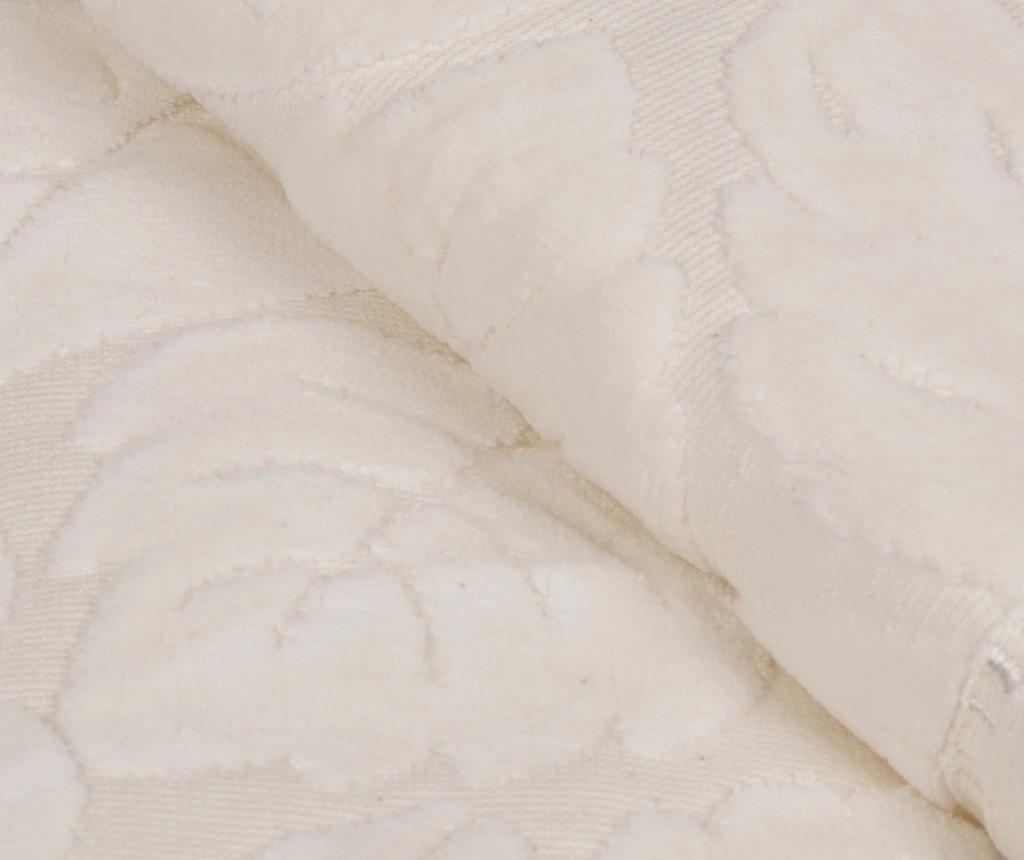 Kismi Kadife Yaprak Cream 2 db Fürdőszobai törölköző 50x90 cm
