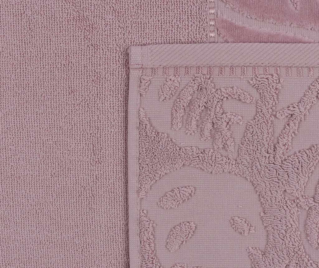 Kismi Kadife Yaprak Dusty Purple 2 db Fürdőszobai törölköző 50x90 cm