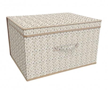 Πτυσσόμενο κουτί με καπάκι για αποθήκευση Knitted Cream