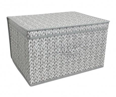 Πτυσσόμενο κουτί με καπάκι για αποθήκευση Knitted Grey