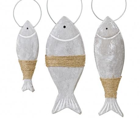 Set 3 decoratiuni suspendabile Fishes