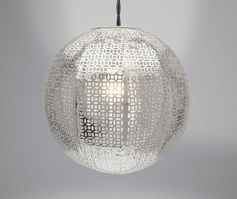 Senčilo za svetilko Nouveau Cadiz Silver