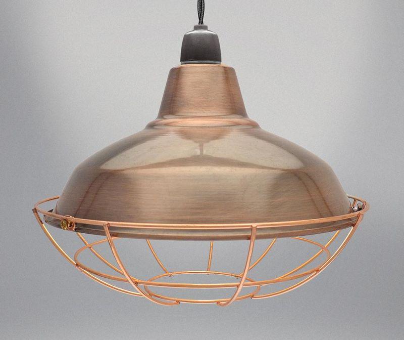 Senčilo za svetilko Sona Brown Copper