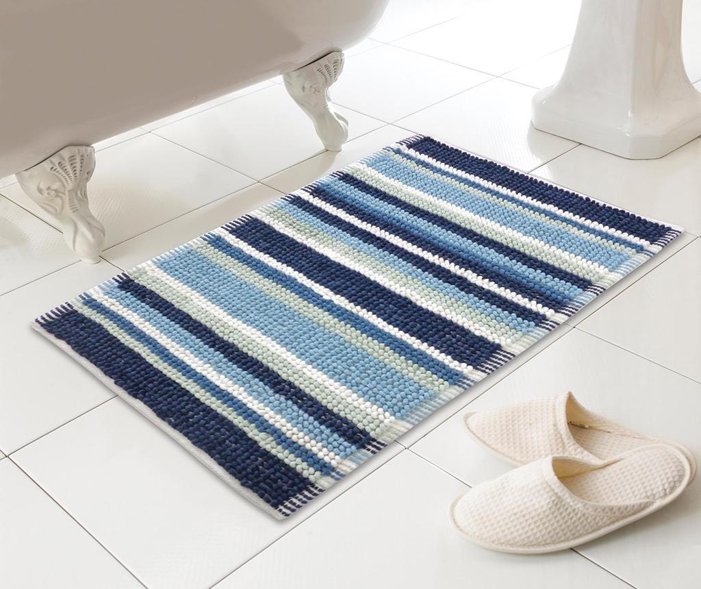 Stripe Blue Fürdőszobai szőnyeg 50x80 cm