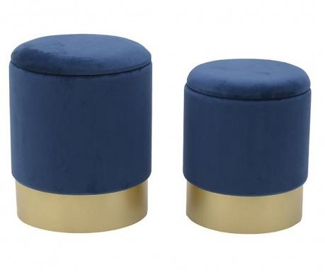 Комплект 2 табуретки Elegance Blue