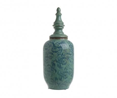 Antique Blue Díszedény fedővel