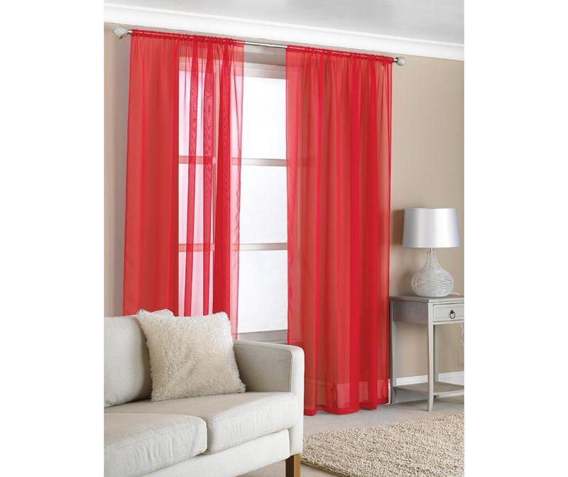 Set 2 zaves Slot Red 150x229 cm