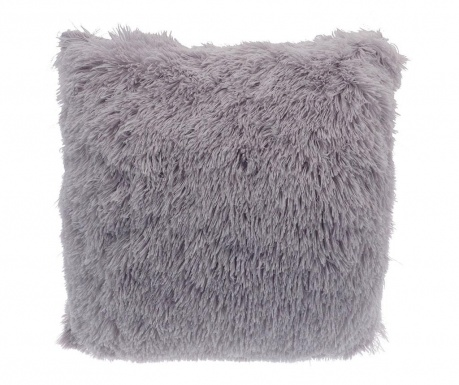 Poduszka dekoracyjna Long Fur Soft Touch Light Grey 40x40 cm