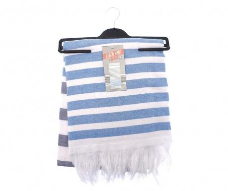 Ręcznik plażowy Beach Stripe Navy Blue 85x160 cm