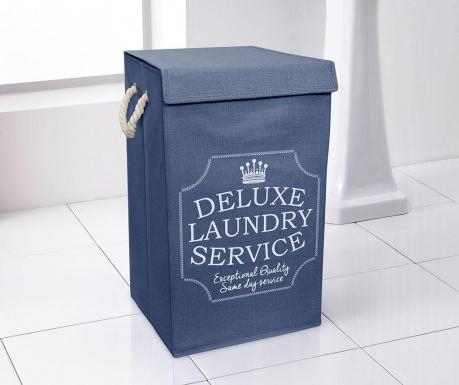 Cos cu capac pentru rufe Deluxe Blue
