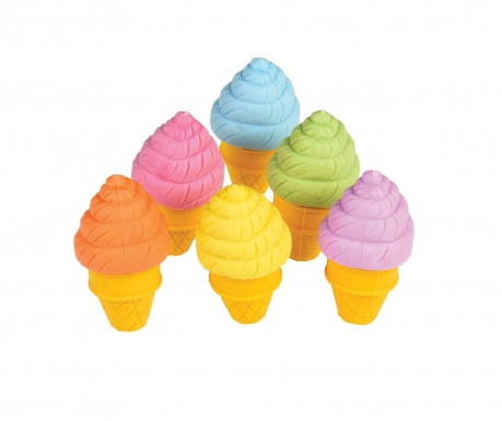 Σετ 6 σβήστρες Ice Cream