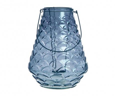Podstavec na sviečku Glass Blue Round
