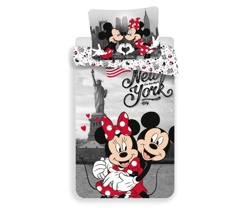 Minnie and Mickey in New York Egyszemélyes ranforce ágynemű