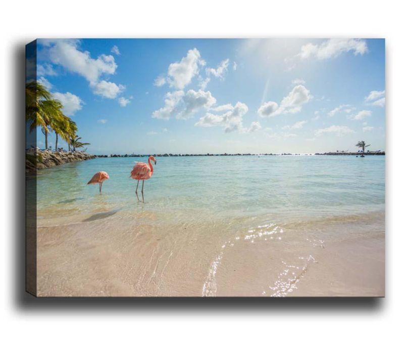 Slika Flamingos on the Beach 40x60 cm