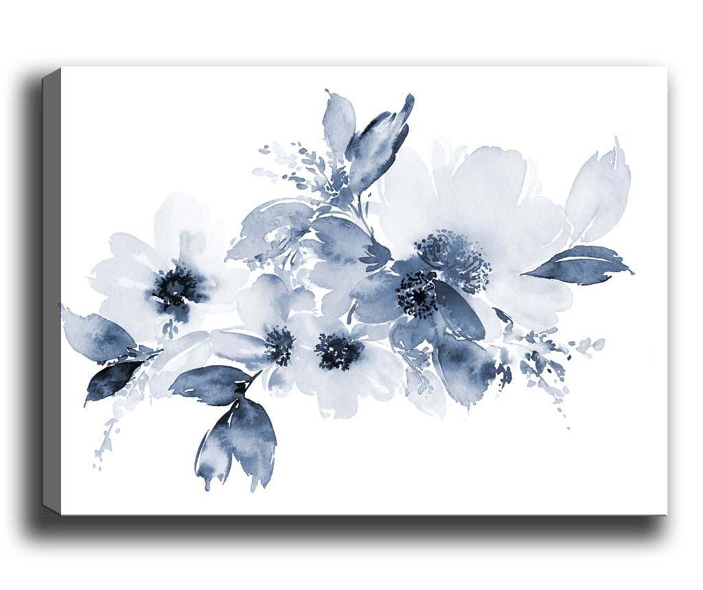 Blue Flowers Kép 40x60 cm