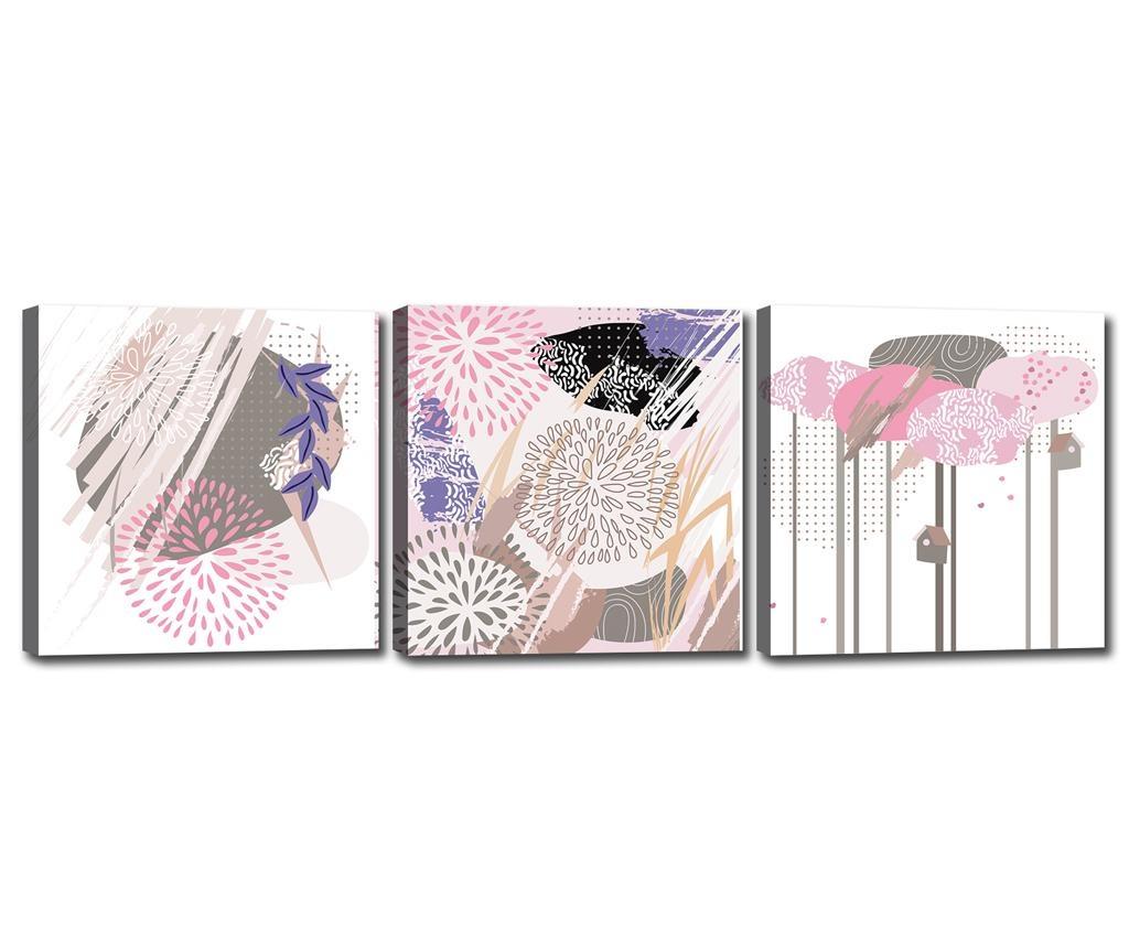 Set 3 tablouri Shapes 30x30 cm