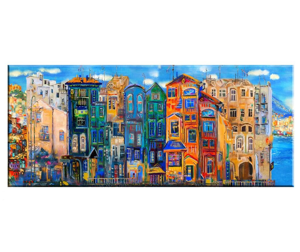 Slika Colourful Houses 60x140 cm