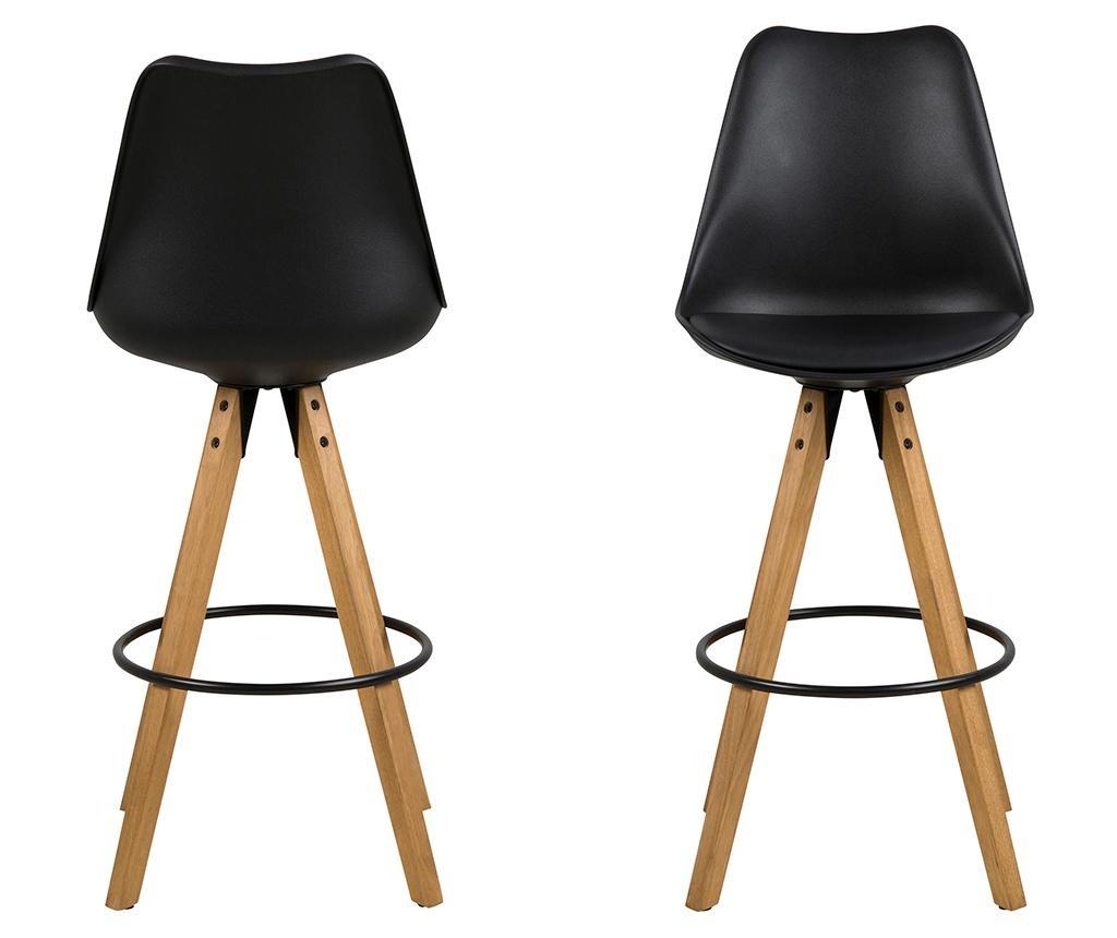 Set 2 barskih stolov Dima Black