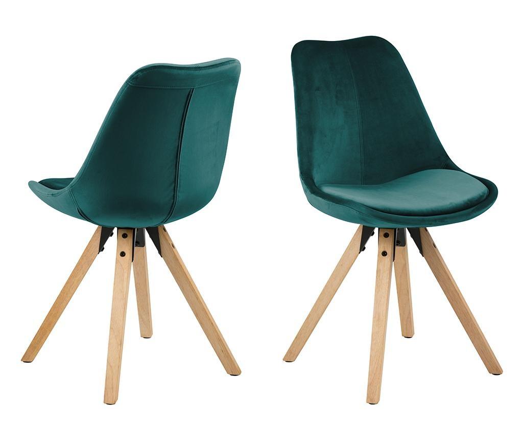 Set 2 scaune Dima Soft Bottle Green